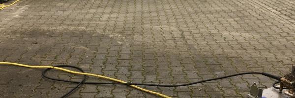 Bestrating reinigen schoonmaken